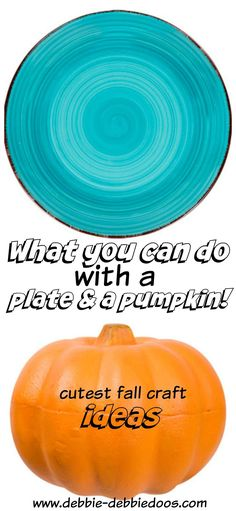 what you can do with a plate and pumpkin