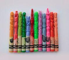Fancy - Crayon Sculptures by Diem Chau