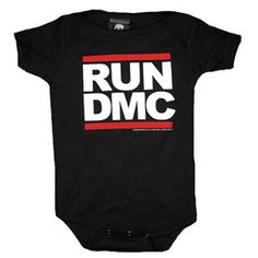 Rock Tees - Sourpuss Run DMC Onesie  (if i had a child..they would so wear the cutest and hippest things!!)