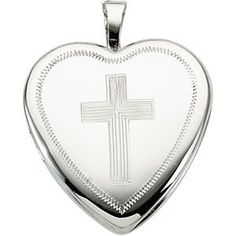 14K Yellow Gold Heart Locket with Cross | Your #1 Source for Jewelry and Accessories