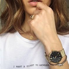 rocking one of our favorite cluse watches Fashion Tag, Fashion Watches, Fashion Jewelry, Negin Mirsalehi, Mixed Metal Jewelry, Perfect Gift For Him, Elegant Watches, Jewelry Photography, Looks Style
