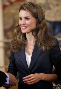 Crown Princess Letizia of Spain receives audiences 9/25/2013