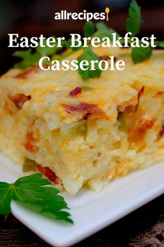 Easter Breakfast Casserole Recipe - The Effective Pictures We Offer You About Easter Recipes Ideas A quality picture can tell you man - What's For Breakfast, Christmas Breakfast, Breakfast Dishes, Easter Recipes, Brunch Recipes, Holiday Recipes, Recipes Dinner, Easter Breakfast Recipes, Brunch Ideas