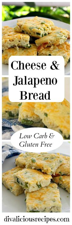 A moist low carb and gluten free cheese & jalapeno bread. Made with coconut flour. For the full recipe: divaliciousrecipe. Gluten Free Recipes, Low Carb Recipes, Healthy Recipes, Bread Recipes, Flour Recipes, Fast Recipes, Ketogenic Recipes, Cheese Recipes, Healthy Food