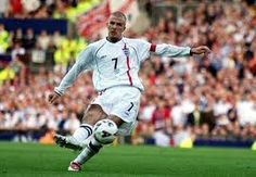 David Beckham's last minute free-kick against Greece that booked England a place at the 2002 World Cup finals