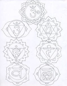 chakra symbols coloring pages - photo#14