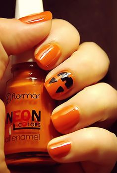 Bewitching Halloween Nail Art check out www.MyNailPolishObsession.com for more nail art ideas.