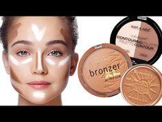 ▶ Top Drugstore Bronzers   Contouring & Highlighting Tutorial - YouTube