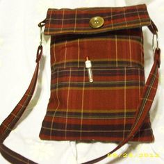 Ready to Ship Eco Friendly Crossbody Tablet bag I by StrappyStyles