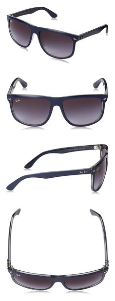 afd44d50f1  140 - Ray-Ban Men s 0RB4147 60414060 Highstreet Boyfriend Sunglasses Top  Mat Blue on Grey