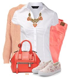 """""""White Top & Slip-Ons"""" by daiscat ❤ liked on Polyvore featuring Topshop, American Eagle Outfitters, Dorothy Perkins, Marc Jacobs and C. Wonder"""