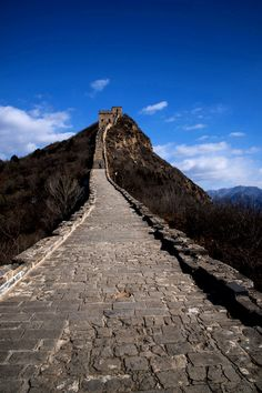 Stone walkway of the famous Great Wall.