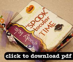 Tutorial: Halloween Minibooks · Scrapbooking | CraftGossip.com