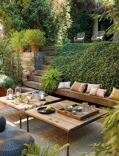 Perfect outdoor seating. Soothing and calm envirnoment
