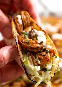 Mexican Dishes, Mexican Food Recipes, Ethnic Recipes, Shrimp Taco Recipes, Steak And Shrimp Tacos Recipe, Spicy Shrimp, Recipetin Eats, Recipe Tin, Fruit And Veg