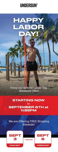 From now until Labor Day enjoy FREE SHIPPING on all Undersun products! Best Resistance Bands, Happy Labor Day, Lose Body Fat, Build Muscle, Workout Programs, Good Things, Goals, Free Shipping, Products