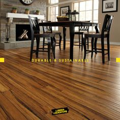 Bamboo is suitable to any decor - traditional or modern. Available in many stains, styles & textures, these floors exude luxury and comfort! [Spring 2015 Look Book]