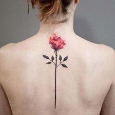 Rose back tattoo - 120 Meaningful Rose Tattoo Designs Hand Tattoos, Spine Tattoos, Tattoos Skull, Cute Tattoos, Unique Tattoos, Beautiful Tattoos, Body Art Tattoos, New Tattoos, Small Tattoos