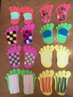 Sensory footprints for infants & toddlers.