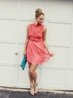 5 ways to wear coral dress | Fashion Inspiration Blog
