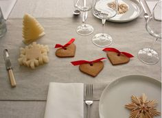 christmas table setting by the style files, via Flickr