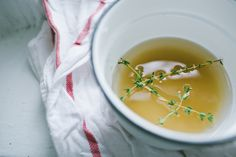 Homemade thyme simple syrup