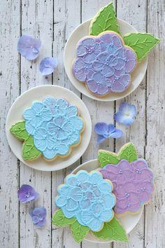 hydrangea cookies