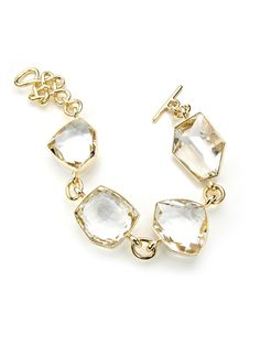 Diane von Furstenberg by H.Stern collection.  Bracelet Rock Crystal in 18K yellow gold with rock crystals by H.Stern.
