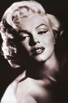 Marilyn Monroe Shadow Light Glamour Portrait Poster 24x36