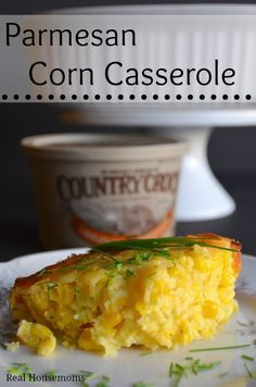 This Parmesan Corn Casserole is delicious and perfect for summer. The corn flavor is huge and the parmesan adds a delicious contrast.