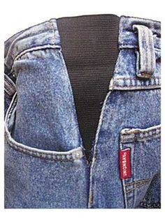 Save your too-tight favorite pair of jeans or slacks with these inserts. You also get the look of tailored pants but the comfort of elastic-waist pants. Step-by-step illustrated instructions show how to stitch into finished slacks or alter a favor. Sewing Hacks, Sewing Tutorials, Sewing Crafts, Sewing Projects, Sewing Patterns, Sewing Diy, Techniques Couture, Sewing Techniques, Sewing Alterations