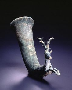 Stag Rhyton Provenance Asia Minor/Black Sea region Period ca. 4th century B.C. Materials Bronze Dimensions H-37 D-12 W-25.5