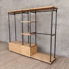 India Multifunctional Industrial Wardrobe Unit …a fan of the rustic style of i… - Modern Industrial Interior Design, Industrial Interiors, Industrial House, Industrial Style, Industrial Clothes Rail, Industrial Lamps, Industrial Bedroom Furniture, Solid Wood Furniture, Reclaimed Furniture