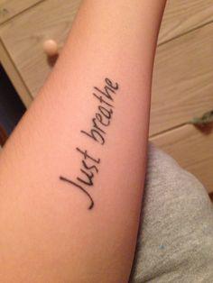 just breathe tattoo - Google Search | Tattoos | Pinterest | Breathe ...