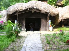 Old traditional Romanian house, as you stil can see in the Village Museum of Bucharest www.worldtourandtravel.com