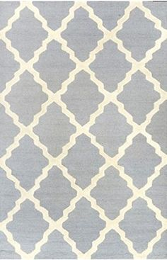Amazon.com - nuLOOM MTVS27T Varanas Collection Marrakech Trellis Contemporary Transitional Hand Made Area Rug, 5-Feet by 8-Feet, Light Grey ...