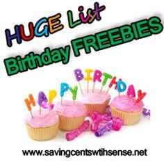 Huge List of Birthday FREEBIES!