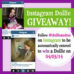 #CONTEST! Follow us on #Instagram to automatically be entered to #win a #Dollie at the end of the week! #giveaway