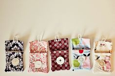 cute little pouches, just big enough for tea bags, Sunday School offerings, or a few candies for the kids!