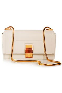 Lanvin partition bag in white and gold Stylish Handbags, Cute Handbags, Purses And Handbags, Purse Wallet, Clutch Bag, Business Fashion, Office Fashion, Little Bag, Lanvin