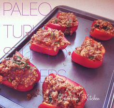 Try these amazing Paleo Turkey Stuffed Peppers and start (or continue) your Paleo lifestyle right! Find more paleo recipes at The Bewitchin' Kitchen.