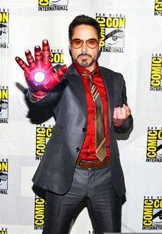 Robert Downey Jr Iron Man Comic-Con