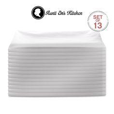 Aunti Em's Kitchen Vintage Flour Sack Kitchen Dish Towels, Commercial Restaurant Grade, Weave Cloth Natural Cotton, 27 x Baker's Dozen Set of White Kitchen Dishes, Kitchen Sets, Kitchen Towels, Vintage Dishes, Vintage Kitchen, Thing 1, Flour Sack Towels, Dish Towels, Towel Set