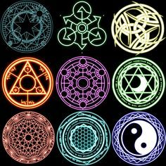 Online shopping for Fairy Tail with free worldwide shipping VT MA THUẬT 2 Real Magic Spells, Spell Circle, Magia Elemental, Art Magique, Magic Symbols, Glyphs Symbols, Celtic Tattoo Symbols, Wiccan Tattoos, Element Symbols