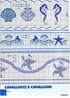 Cross stitch free pattern Maritime borders