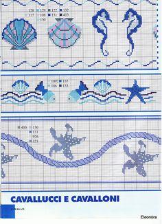 Cross stitch free pattern Maritime borders