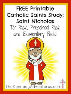 Looking for Saint Nicholas printables for your Catholic homeschool? Don& miss these free printables for toddlers, preschooler and early elementary kids. Religion Activities, Teaching Religion, Religion Catolica, Catholic Crafts, Catholic Kids, Catholic School, Advent Catholic, Kids Church, Church Ideas