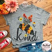 BEE Kind T-shirt Bee lover Shirt gifts Animal Lover gifts Environmentalist gifts Save the Bees bee shirt beeswax honey bees T - Kind Shirt - Ideas of Kind Shirt - BEE Kind T-shirt Bee lover Shirt gifts Animal Lover gifts Environmentalist gifts Save the Be Summer Outfits, Cute Outfits, Save The Bees, Bee Happy, Gifts For Pet Lovers, Diy Fashion, T Shirts For Women, My Style, Honey Bees