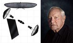 Celebrity Portrait Lighting Setup Patrick Stewart Rory Lewis Photographer #photographylightingsetup