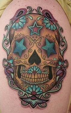 Blue Star Sugar Skull